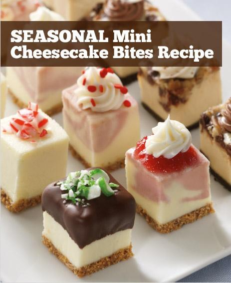 SEASONAL Mini Cheesecake Bites Recipe