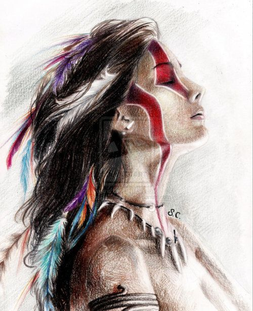 Native Love: I Love The Beautiful Art. The Poem Is A Sad But Strong