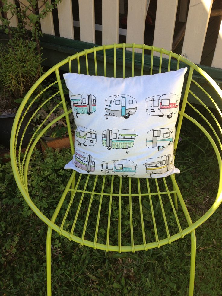 """Groovy chill out chairs for """"The TinSnip Hairoom"""" loving the green but I'm thinking of painting them purple."""