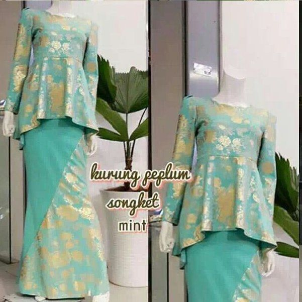 http://www.youtube.com/channel/UCqEqHuax3qm6eGA6K06_MmQ?sub_confirmation=1 PEPLUM SALOMA / KURUNG PEPLUM . . Price : RM100 sm / RM110 ss . . Free size fit M . . Material Top : Cotton Spandex Strecthable Skirt : Cotton Crepe . . Measurement Top Bahu : 13'-14' Dada : 32'-36' Labuh Lengan : 22' Pinggang : 29'-33' Labuh baju depan : 25.5' Labuh baju belakang : 30' . . Skirt Pinggang : 22'-30' Pinggul : 32'-40' Labuh : 39' . . Pinggang getah Top / Blouse cutting Fishtall Skirt cutting mermaid Zip…