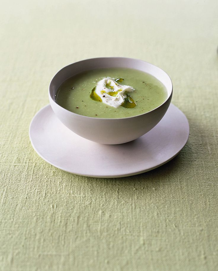 A classic Vichyssoise is usually made from potatoes and leeks but we've added asparagus to this soup recipe too for seasonal twist.
