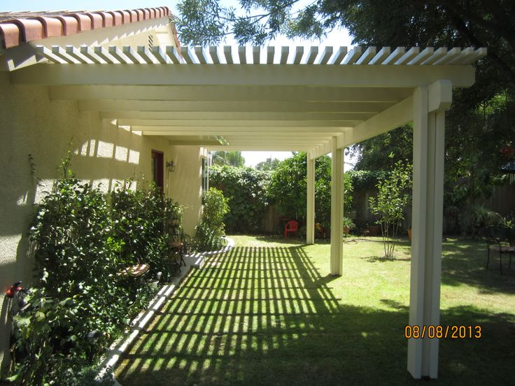 This can be your next home improvement project! Enjoy the shade this summer with a lattice patio cover