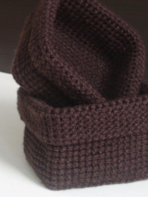 Crochet Rectangle Basket Pattern Free : Crochet baskets, Crochet and Baskets on Pinterest