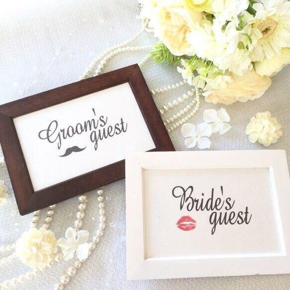 ⭐️只今インスタグラムにて【プレゼント企画】        実施中です❤️ 【@kawairosette】是非ご覧下さい¨̮♡︎結婚式の受付にて必ず使用する受付サイン☆ 受付の装飾は、ゲストへのおもてなしの1つです♪ 新郎用新婦用2枚セットです⑅︎◡̈︎*♡*⃝̣◌⑅⃝♡◌*⃝̥◍♡♡*⃝̣◌⑅⃝♡◌*⃝̥◍♡こちらは中紙のみとなります。フレームはお好きな物をご購入の上ご利用下さい。♡*⃝̣◌⑅⃝♡◌*⃝̥◍♡♡*⃝̣◌⑅⃝♡◌*⃝̥◍♡ご希望に合わせてカスタマイズ可能な商品です✩︎例) ▸︎▹︎Groom/Bride のみ表記 ▸︎▹︎Groom/Bride をお2人の名前にする ▸︎▹︎挙式日やイニシャルなどを入れる etc...サイズ▸︎▹︎はがきサイズ 100×148㎜