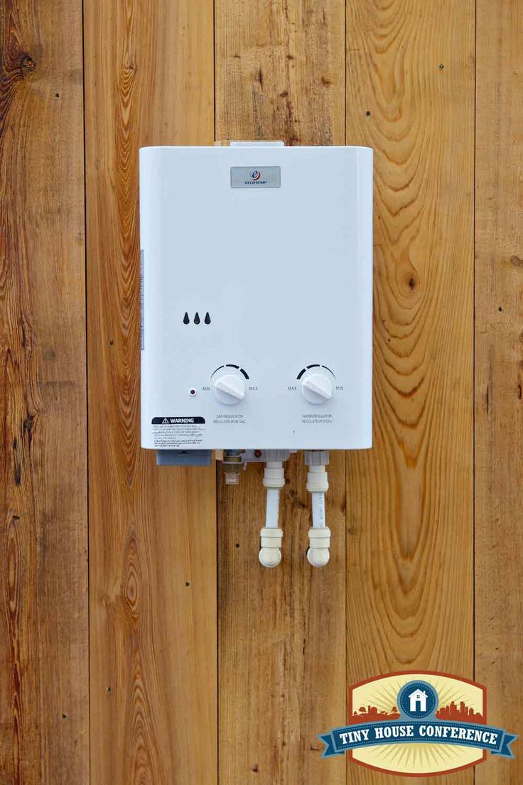 ecotemp instant hot water heater on tiny house at the - Tiny House Appliances
