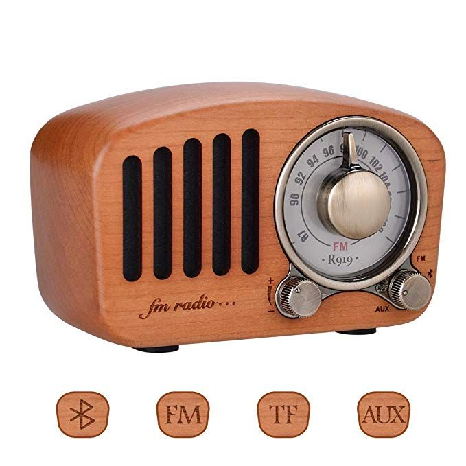 Qoosea Retro Radio Portable Radio Fm Radio With Bluetooth Speaker