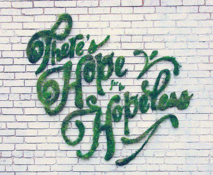 Gib deiner Wand eineneinzigartigen Graffiti-Look, der komplett aus Pflanzen besteht. Genial einfach.