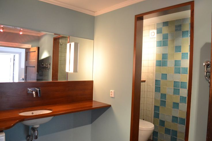 Fun colours, fun lighting and fun materials for this bathroom that I designed.