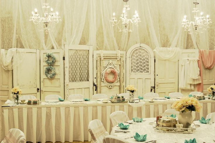 vintage door backdrop | ... down for the reception. The receiving line was in front of the doors