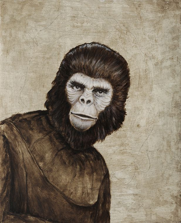 Planet of the Apes #2 Oil on Canvas. Brock Banner