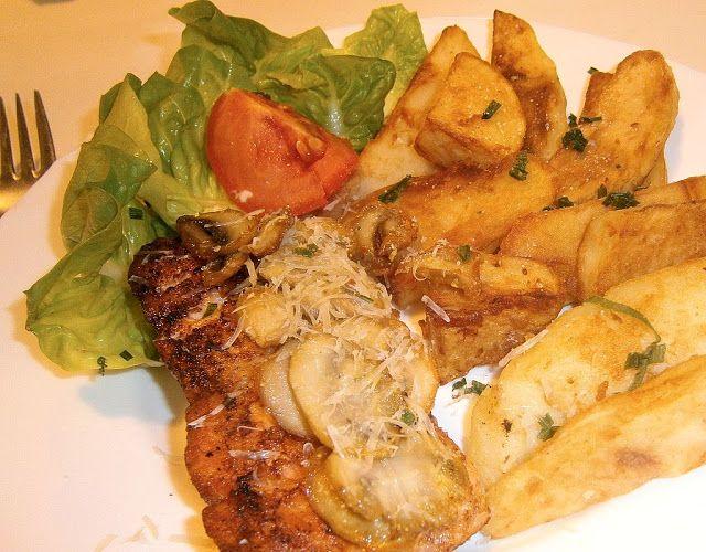 motýlia :) vareška: Rýchly grilovaný losos zapečený so šampiňónmi a opekané zemiaky