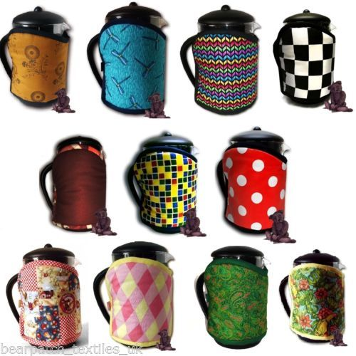 12-cup-1-5-litre-Bearpatch-MultiColoured-Cafetiere-Coffee-Cosy-100-Cotton-ltd