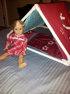 """The blog in which it's an 18"""" doll tent made from PVC pipe (Tutorial with pictures.)"""