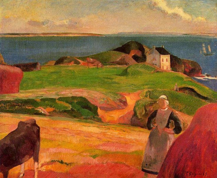 Paul Gauguin, La casa aislada en Pouldu, colección particular, 1889. Carmen Pinedo Herrero