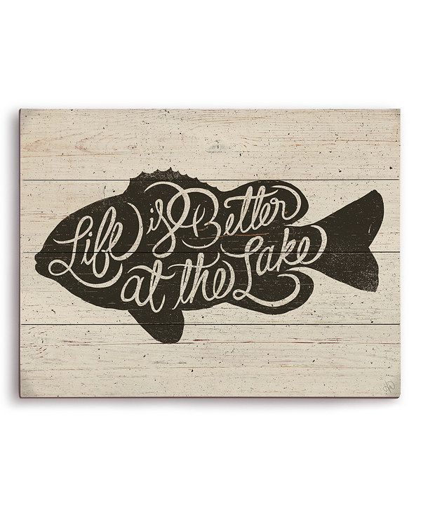 Look at this 'Life is Better at the Lake' Wall Art on #zulily today!