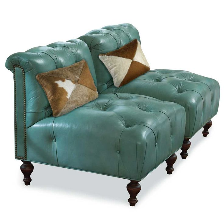 Superior TURQUOISE LEATHER CHAIR