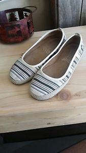 Aerosoles Women's StitchNTurn Striped Slip On 5.5 Espadrille Shoes Flats Casual  | eBay