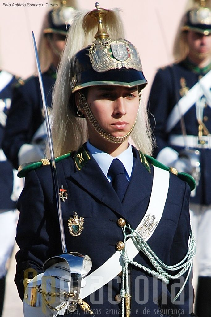 Portuguese Militarized Police GNR (Guarda Nacional Republicana - Republican National Guard) USHE (Unidade de Segurança e Honras de Estado - State Security and Honours Unit, former Regimento de Cavalaria - Cavalry Regiment) member.