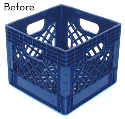 17 best ideas about plastic milk crates on pinterest for What to do with milk crates