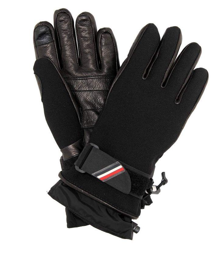 MONCLER GRENOBLE Leather-Trimmed Ski Gloves. #monclergrenoble #gloves
