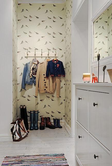 entryway + wallpaper