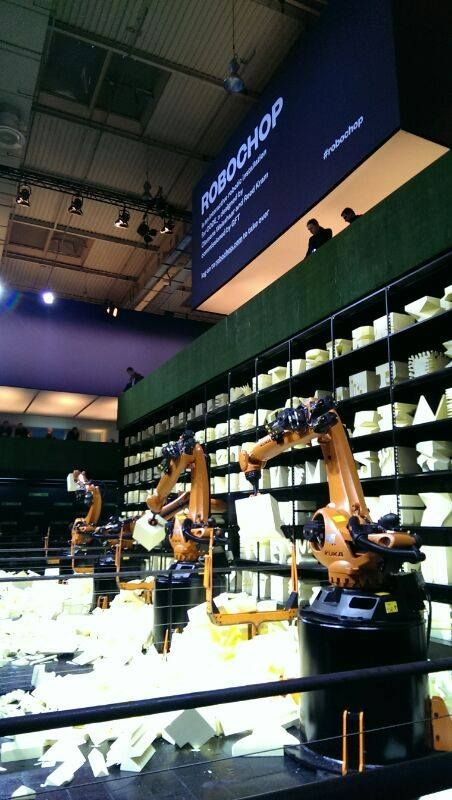 An interactive robotic installation for CODE_n presented in Hall 16.