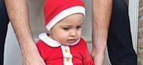 Iker Casillas y Sara Carbonero reciben la visita de un Papá Noel llamado Martín
