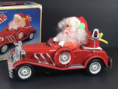 Batteriebetriebene Old Style Weihnachtsmann Musical Cartoon Auto 1984 Toy & Box Works …   – Cool Christmas