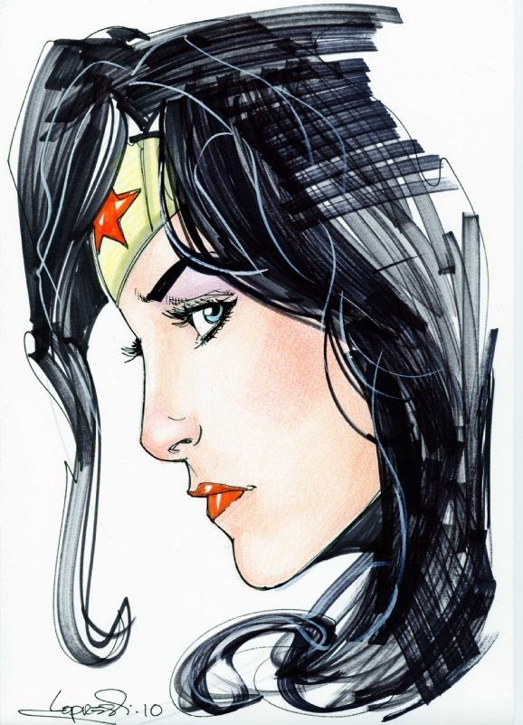 Lopresti - Wonder Woman Comic Art ღ♥Please feel free to repin ♥ღ www.unocollectibles.com