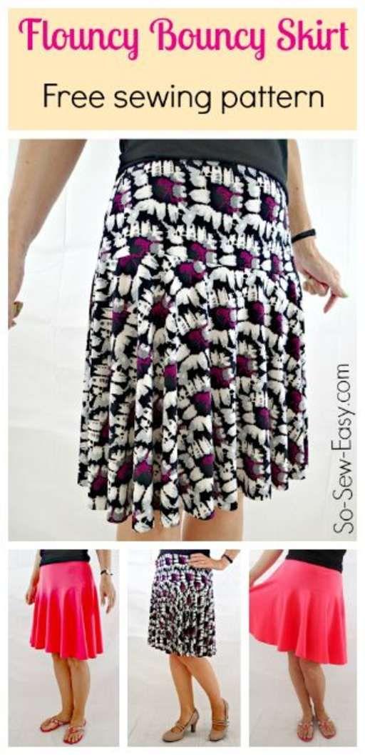 Free Skirt Pattern The Flouncy Bouncy Skirt Sewing