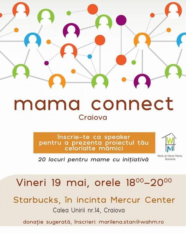 Ieşim din mediul virtual şi vă aşteptăm la o nouă întâlnire Mama connect, să ne cunoaştem, să schimbăm idei şi experienţe. Donație liberă care se folosește pentru viitoare evenimente și proiecte. Data: 19 mai. Ora: 18-20.