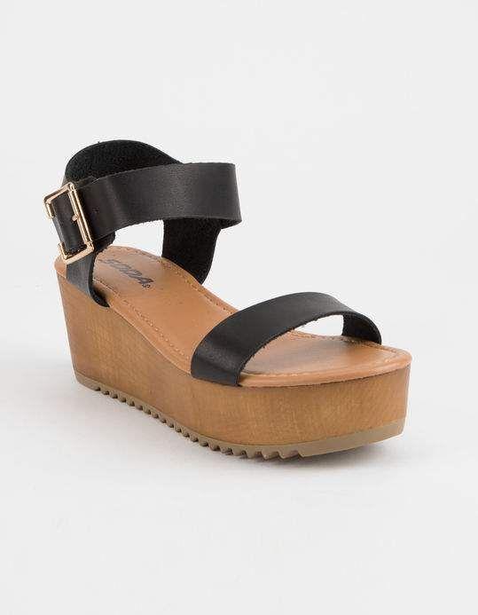 f6ad36d39 SODA Ayla Platform Black Womens Sandals