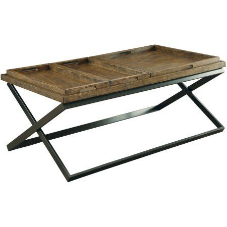 Furniture of America Benton Transitional Coffee Table, Medium Weathered Oak, Brown
