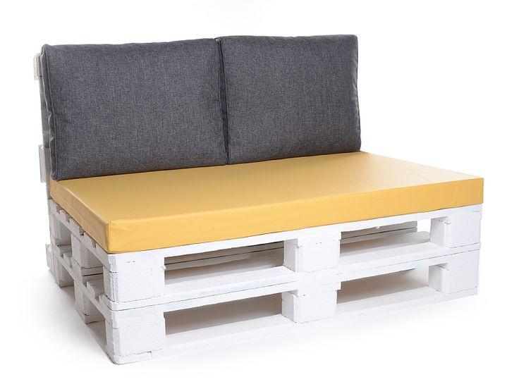 palettenkissen matratzenkissen kunstleder 120x42x8 gelb kinderzimmer pinterest hund sofa. Black Bedroom Furniture Sets. Home Design Ideas