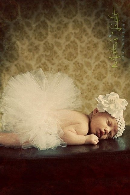 baby tutu with headband and flower clip newborn