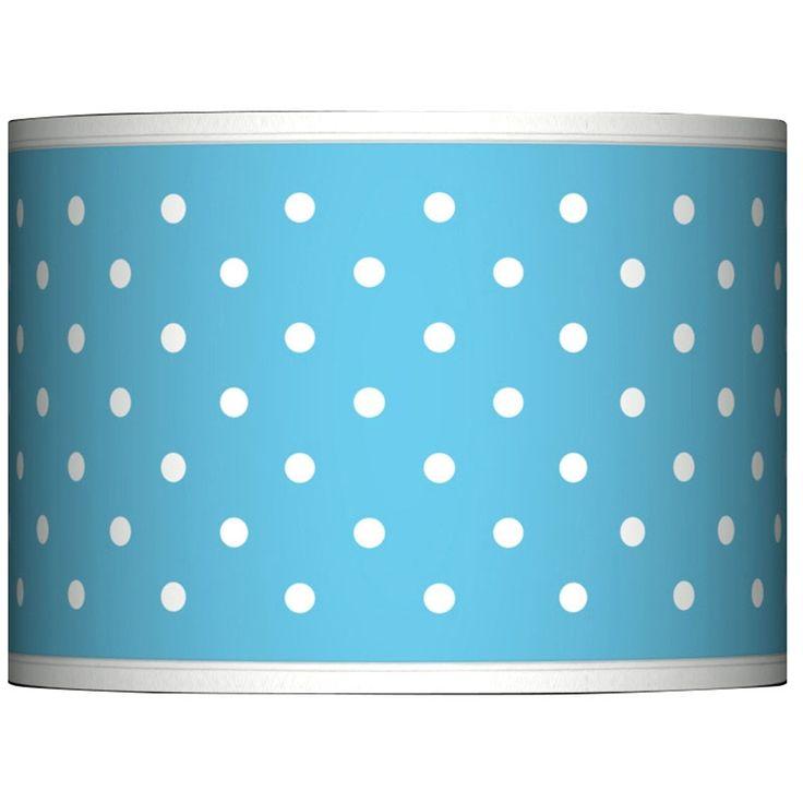 Mini Dots Aqua Giclee Glow Lamp Shade 13.5x13.5x10 (Spider) - Style # 37869-N0553
