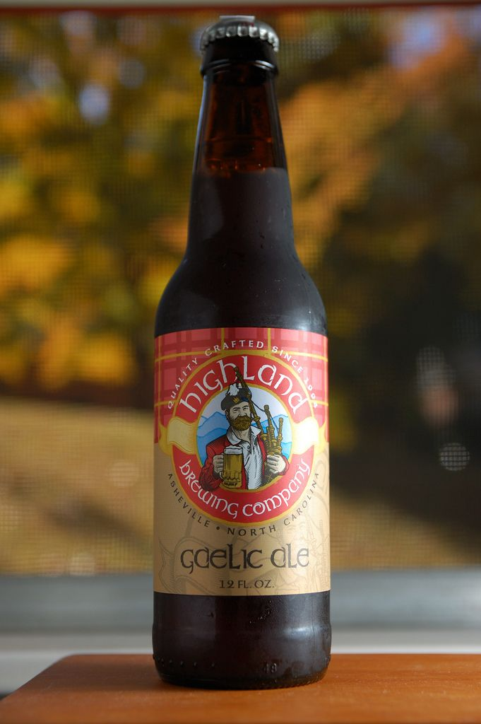 This might be my favorite beer of all time—Highland Brewery Gaelic Ale.