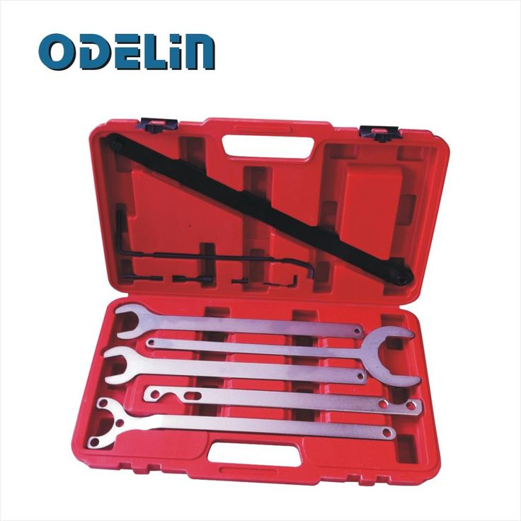 5PC Fan Clutch Water Pump Service Clutch Holder Wrench Tool Set For Mercedes Benz BMW