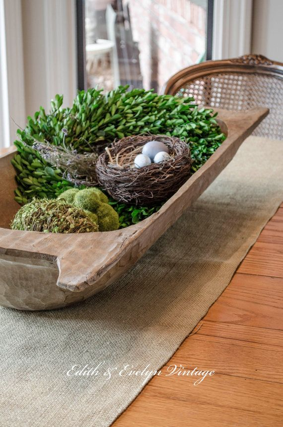 Antique European Dough Bowl Trencher Carved Wood by edithandevelyn