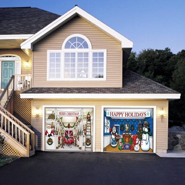 Xmas Garage Door Decoration