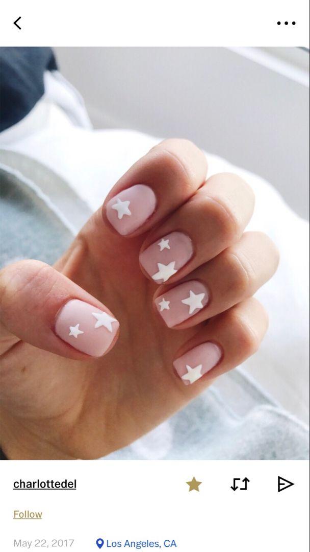 Vsco Avawhitney Star Nails Star Nail Art Pink Nails