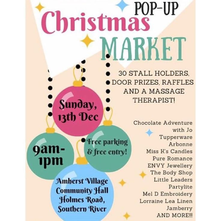 Christmas Market - TOMORROW - Sunday 13th December 2015 - Southern River location - 9am-1pm - Free entry - Market stalls raffles door prizes and more - Check out the Christmas Markets tomorrow!!  #perthtodo #perthmarket #perthmarkets #marketsperth #lovemyperth #perthlife  #happyperth #showmeperth #waweekender #perthevents #eventsperth #whatsoninperth #whattodoperth #whattodoinperth #perth #perthfoodie #pertheats #thingstodoinperth by perthtodo