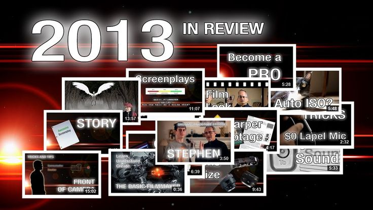 2013 - The Basic Filmmaker Ep 78. Here's a quick recap of 2013. Thank you for watching, thank you for subscribing, and thank you for being a filmmaker.