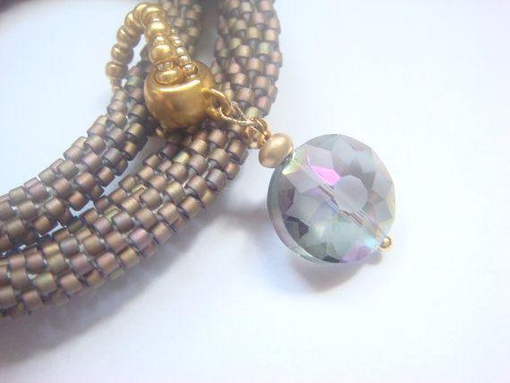 Gifts-jewelry set from Miyuki Japanese beads by Vasilisinsunduk