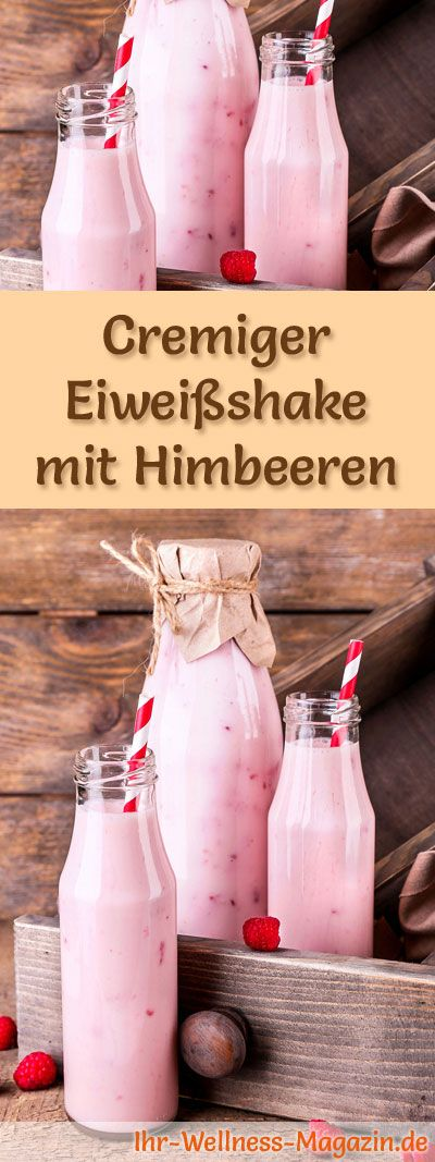 Himbeershake mit Eiweiß und weitere leckere Abnehmshakes, Eiweißshakes & Smoothies zum selber machen für die schlanke Linie ...