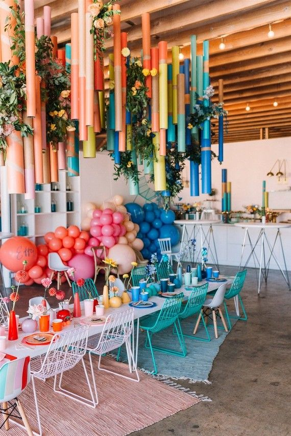 Modern kids party #rainbow #mordern #balloons #kidsparty