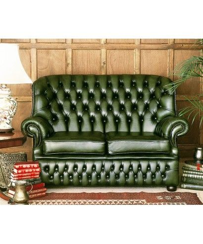 Grun Leder Chesterfield Sofa Leder Pinterest Sofa