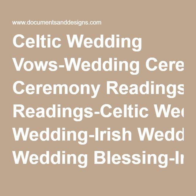 Celtic Wedding Vows: Best 25+ Irish Wedding Blessing Ideas On Pinterest