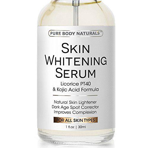 Skin Whitening Lightening Serum - Natural Skin Whitening Cream Treatment - Lighten Dark Spots & Brighten Complexion, Reduce Age Spots, Expert Formula Featuring Vitamin E, Kojic Acid- Safe & Effective
