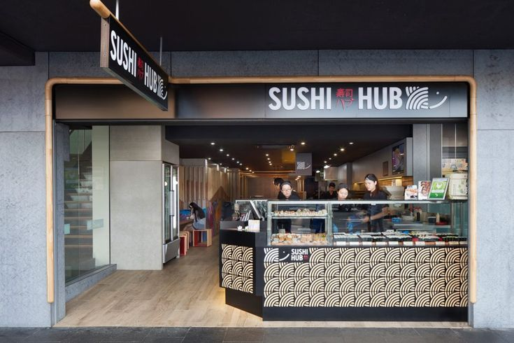 Sydney's sushi restaurant Sushi Hub commissioned Principle Design to create a unique new brand and architectural signage for the Sydney and Melbourne stores